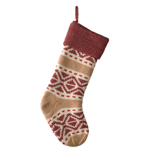 Red Fair Isle Stocking