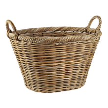 Oval Rattan Laundry Basket