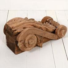 Carved Cedar Corbel, c.1880s