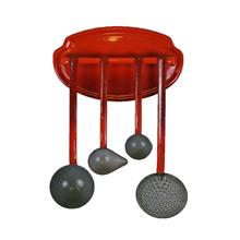 Red and Grey Enamel Kitchen Utensils C1935