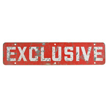 Worn and Weathered Double-Sided Exclusive Sign C1940s