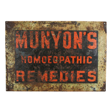 Munyon's Homeopathic Remedies Sign C1890s