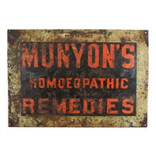 Munyon's Homeopathic Remedies Sign C1890s