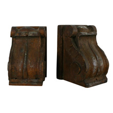 Pair of Petite Oak Corbels, C1900