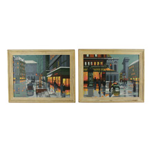 Paris By Night Paint By Numbers Diptych C1958