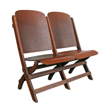 Maple Stadium Tandem Folding Chairs C1930s