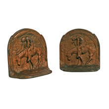 End of the Trail Copper Plated Bookends