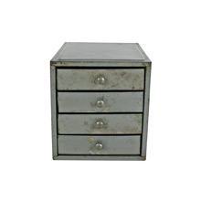 Small Grey Four-Drawer Parts Cabinet C1940s