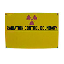 Impeccable New Old Stock Radiation Sign C1965