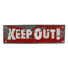 Vintage Mid-Century Keep Out Sign C1965