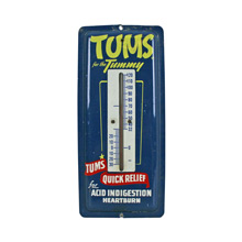 Mid-Century Tums Advertisement Thermometer C1965