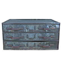Gloriously Weathered Green Parts Cabinet C1950