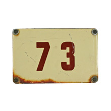 Small Enamel Number Plate C1950