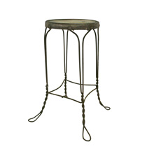 Wrought Iron Wire Work Stool C1930