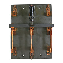 Industrial Slate and Copper Knife Switch Plate C1930
