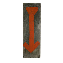 Primitive Directional Arrow Sign C1940