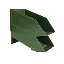 Pair of Industrial Green Stack Bins, Pat. 1943