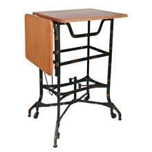 Salvaged Toledo Typing Desk Base W/ Reclaimed Wood Top C1935