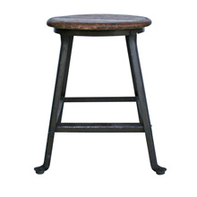 Early Industrial Factory Stool C1920