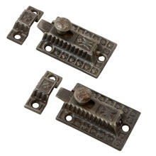 Pair of  Cast Iron Cupboard Latches, C1885