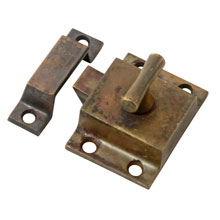 Richly Patinated T-Handle Cupboard Latch C1905