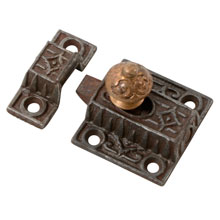 Petite Cupboard Spring Latch W Brass Knob C1885