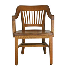 Solid Oak Library Armchair C1935