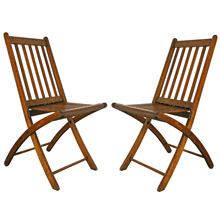 Pair of Paris Manufacturing Company Folding Chairs C1915
