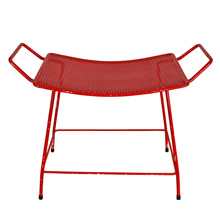 Mid-Century Perforated Red Bench C1960