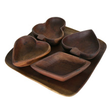 Card Suits Serving Bowls W/ Tray C1950