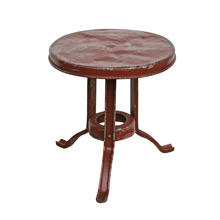 Rustic Milking Stool W/ Chipped Red Paint C1930