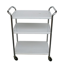 White Enamel Kitchen Cart C1960