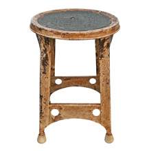 Chipped and Cherished Kitchen Stool C1930