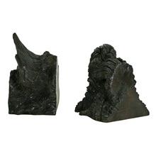 Pair of Rustic Redwood Burl Bookends C1955