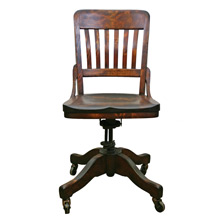 Sikes Company Oak Office Chair C1933