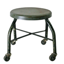 Black and Grey Industrial Welding Shop Stool C1960