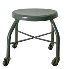 Grey Industrial Welding Shop Stool C1960