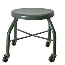 Grey Industrial Welding Shop Stool C1960