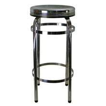 Streamline Polished Chrome Kitchen Stool C1935