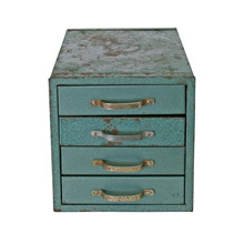 Mint Green Industrial Parts Cabinet C1935
