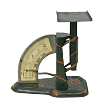 Ideal Postal Scale in Japanned Copper C1910