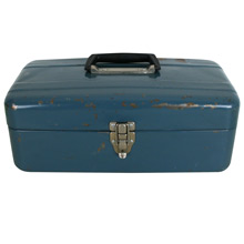 Blue Steel Tool Box by Sears C1960