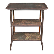 Rusted Industrial Side Table C1925