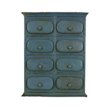Small Blue Organizational Cabinet C1945