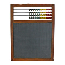 Vintage Chalkboard W/ Abacus C1935