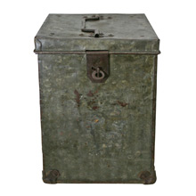 Well-Worn Galvanized Steel Film Reel Canister C1940