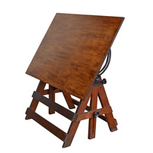 Dark Stained Popular Drafting Table by Keuffel & Esser c1925