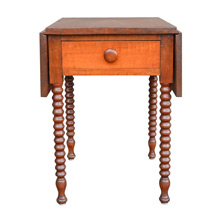 Drop-Leaf Sheraton Style Cherry Side Table c1820
