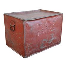 Maroon Tin Sugar Carrying Case c1915