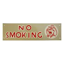 Mid-Century NOS No Smoking Sign in Silver c1965